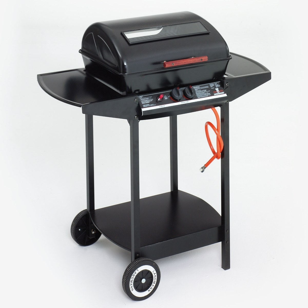 landmann 12375 gas wagon barbecue 2 burner lava rock bbq. Black Bedroom Furniture Sets. Home Design Ideas