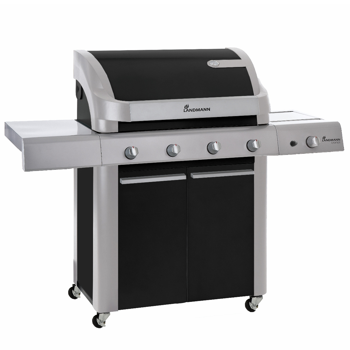 landmann 12873 cronos gas barbecue 4 burner black bbq cooking grill new ebay. Black Bedroom Furniture Sets. Home Design Ideas
