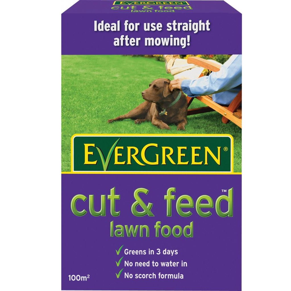 how to use evergreen lawn feed