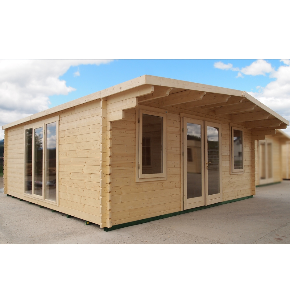 Insulated cambridge log cabin in deluxe finish home office for Insulated office