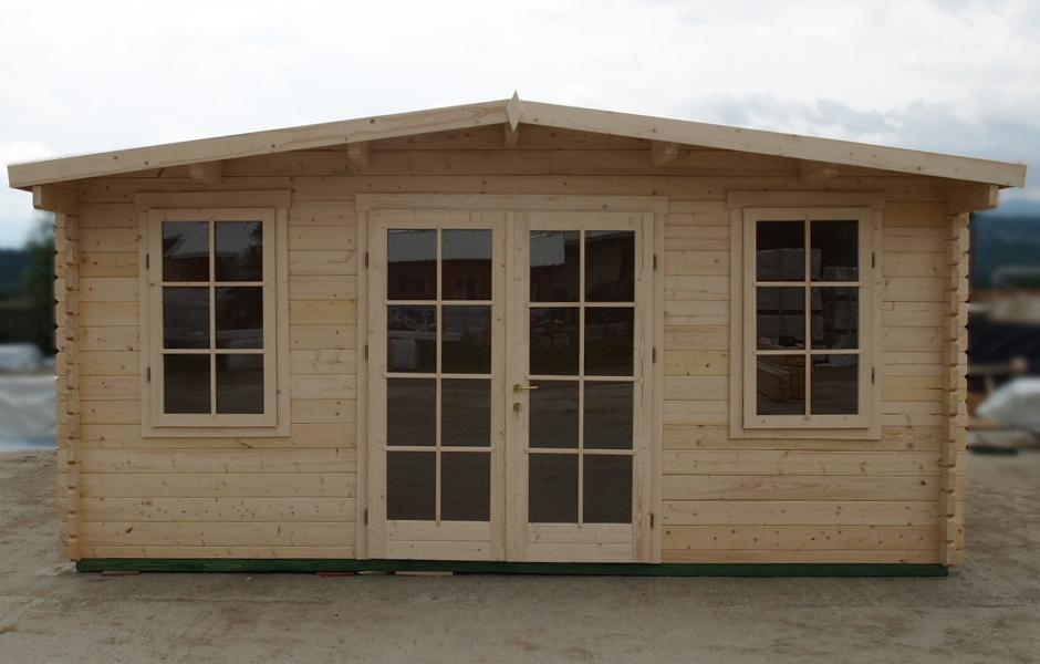 5m X 16ft X 10ft York Log Cabin Garden Room Home