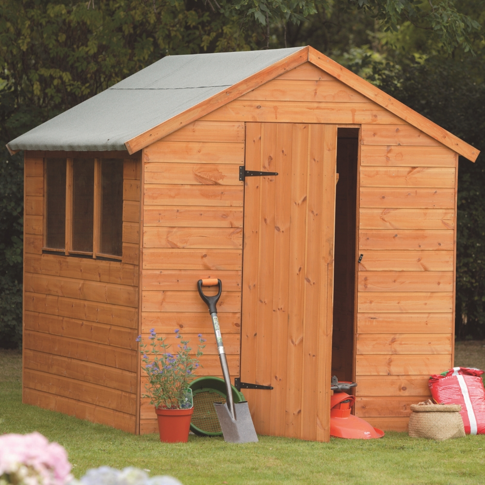 8x6 12mm shiplap apex shed t g treated garden sheds for Quality garden sheds