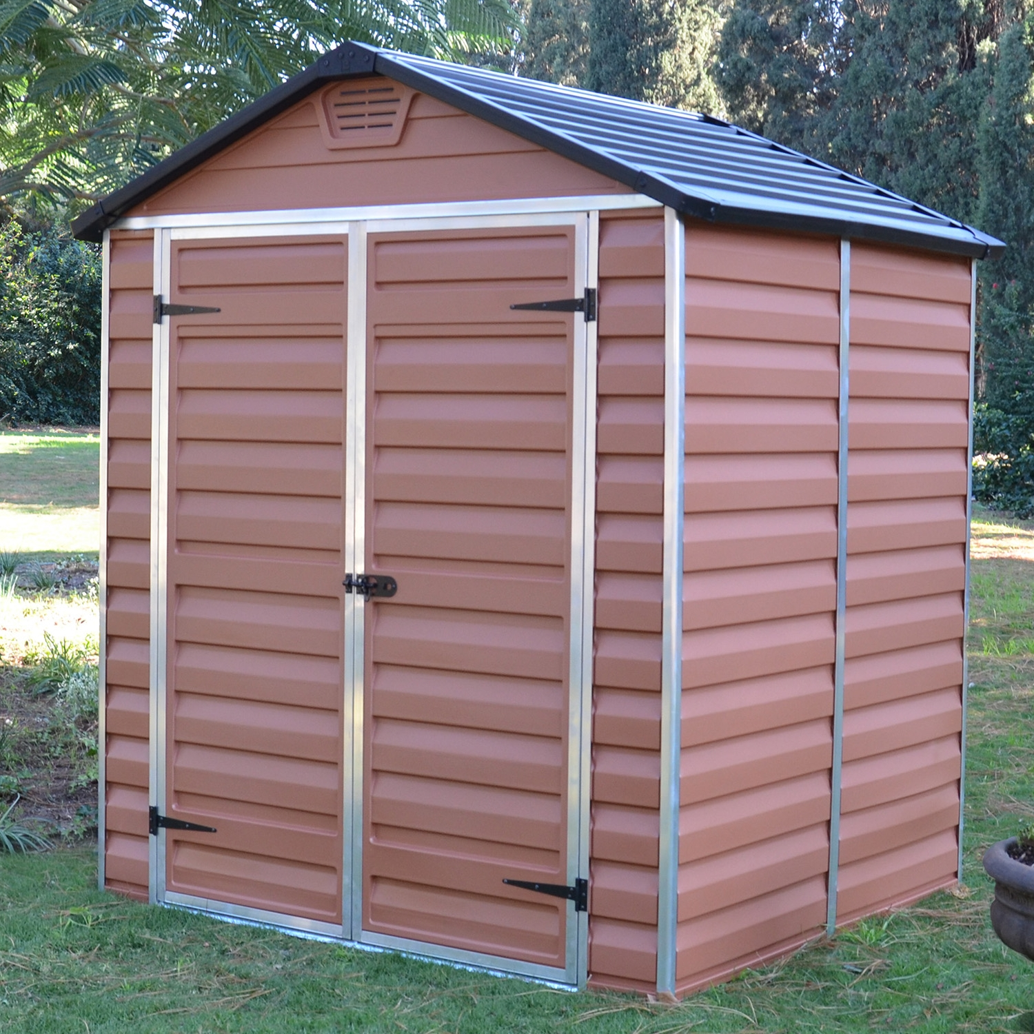 Skylight 6x5 shed strong plastic brown with floor new ebay for Greenhouse skylights