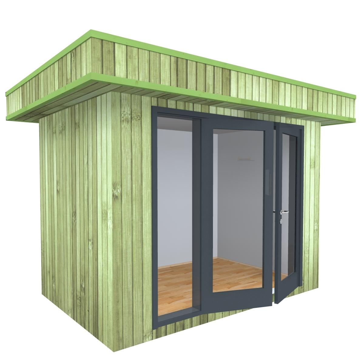 3m X 2m Garden Home Office, Insulated, Triple-glazed, UPVC