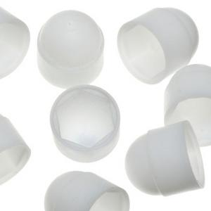 25 x White Nut Covers M6 Preview