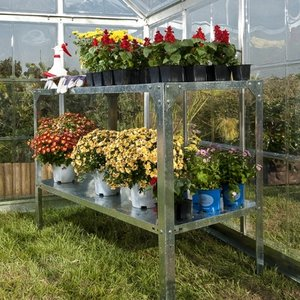 2 Tier Galvanised Steel Greenhouse Staging Preview