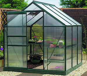 6ft x 6ft Gardman Polycarbonate Greenhouse with Base Preview