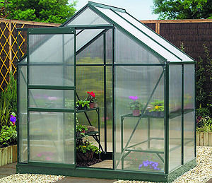 Gardman 6x4 Polycarbonate Greenhouse with Base Preview