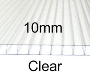 10mm Polycarbonate Sheet - Clear Preview