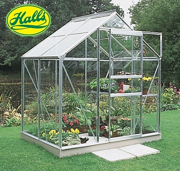 4ft x 6ft Glass Greenhouse with Base Enlarged Preview