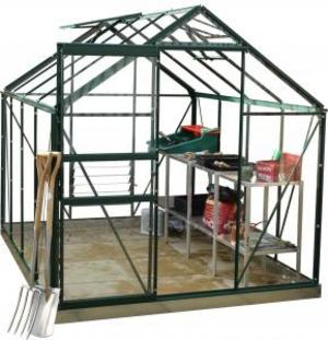 8ft x 6ft Green Greenhouse Extra Value Preview