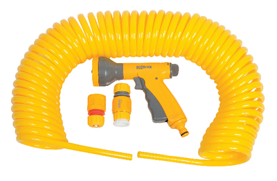 HOZELOCK SPIRAL HOSE SET - 15m LONG with SPRAYGUN Enlarged Preview