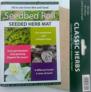 Thyme, Majoram, Parsley and Tarragon Herb Seed Mat Preview