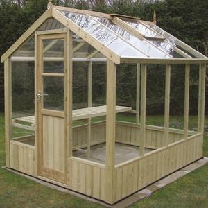 Kingfisher 6'8 Wide Wooden Greenhouse Preview