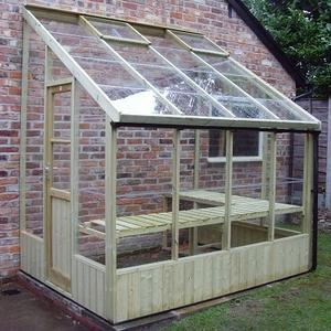 Dove 6ft Wide Lean-to Greenhouse Preview
