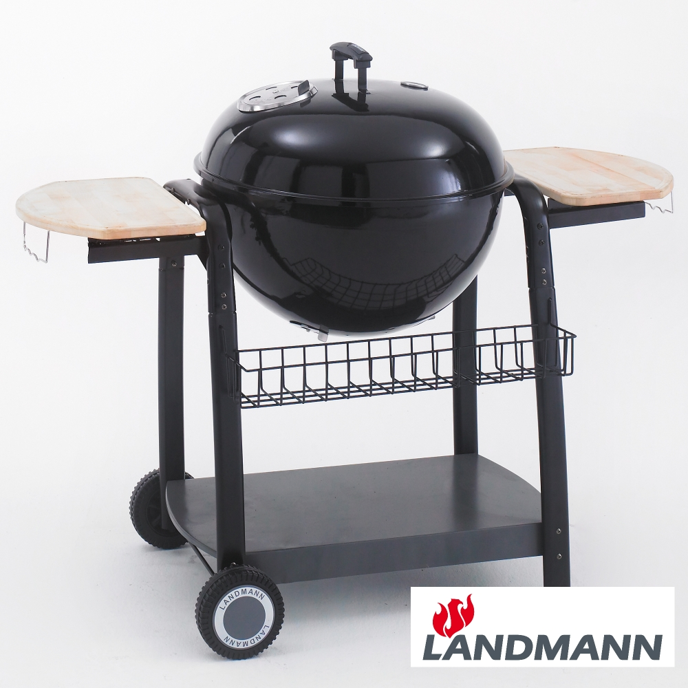 landmann 57cm black pearl charcoal kettle barbecue with. Black Bedroom Furniture Sets. Home Design Ideas