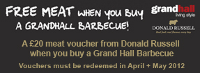 Free Meat when you buy a Grand Hall bbq