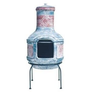 Medium Clay Chimenea with BBQ Grill Preview