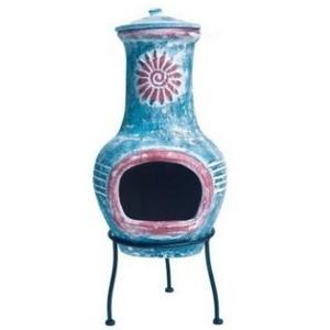 Floral Swirl Clay Chimenea Preview