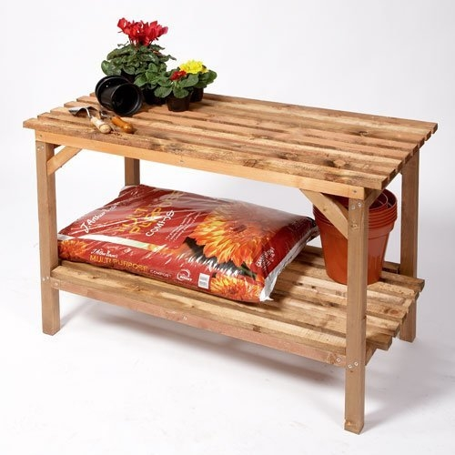 Heavy duty wooden greenhouse staging bench 4 39 or 6 39 long - Wooden staging for greenhouse ...