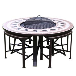 Gardeco Aefelina Firepit Table and Chairs Preview