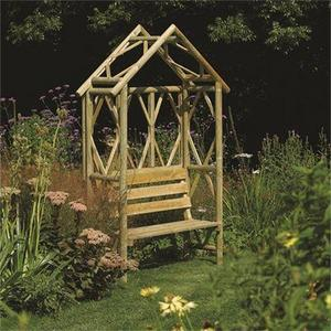 Rustic Seat Arbour Preview