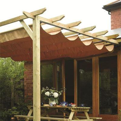 Sienna Garden Canopy Sun Shade Wall Mounted Showerproof