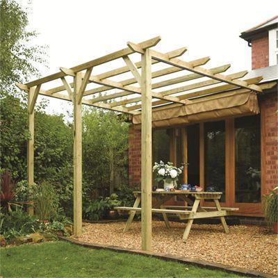 Sienna Garden Canopy Sun Shade Wall mounted Showerproof Awning