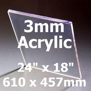 24 inch x 18 inch x 3mm Acrylic Greenhouse Glass (610 x 457mm) Preview