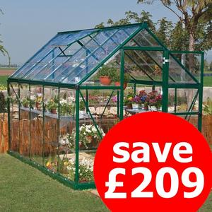 Easy-Glaze 8x6 Crystal-Clear Polycarbonate Greenhouse - Palram Harmony Preview
