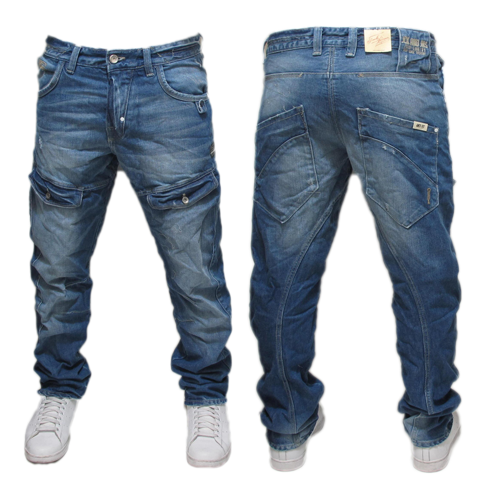 mens jack jones dale feng twist denim jeans all sizes ebay. Black Bedroom Furniture Sets. Home Design Ideas
