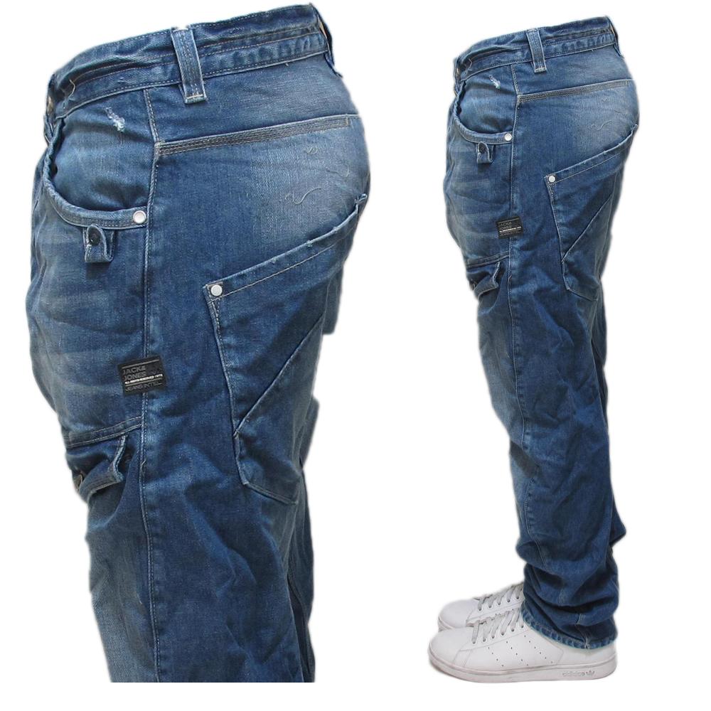 inferno mens jack jones dale feng twist denim jeans all sizes. Black Bedroom Furniture Sets. Home Design Ideas