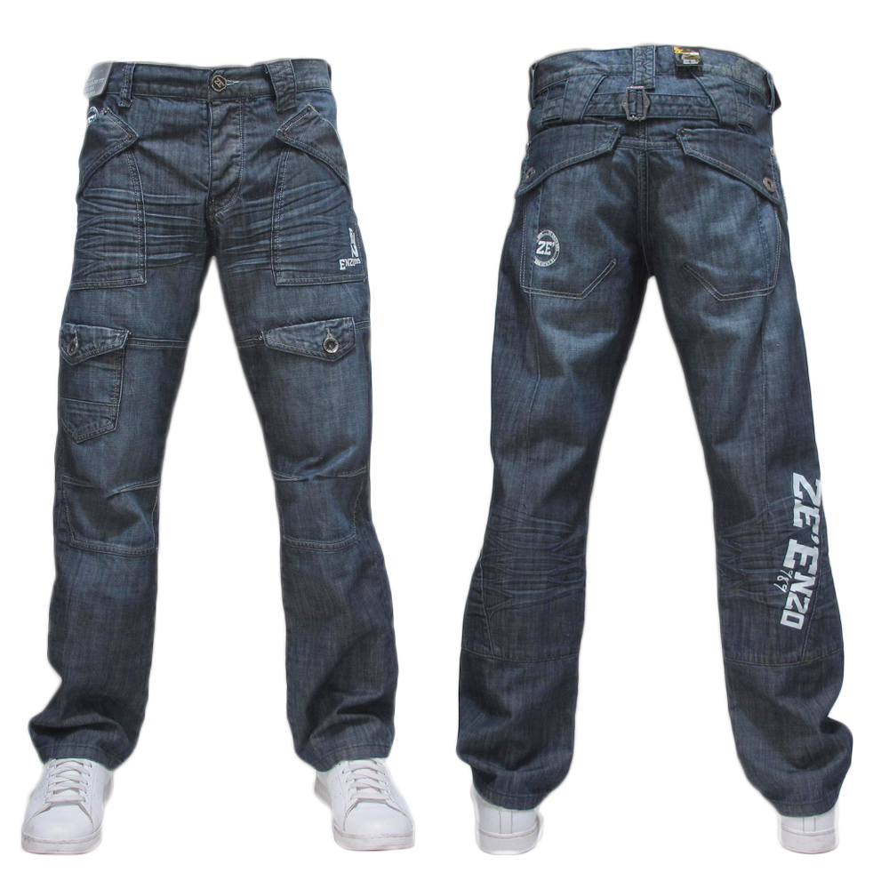 mens enzo ez34 bnwt jeans waist 28 30 32 34 36 38 40 42 ebay. Black Bedroom Furniture Sets. Home Design Ideas