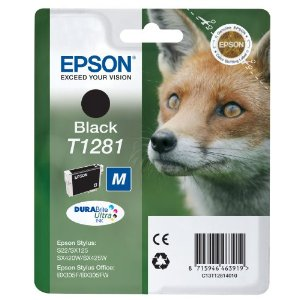 Epson T1281 Black Genuine Ink Cartridge (5.9ml) Enlarged Preview