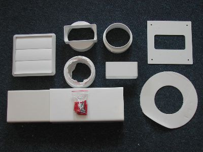 Universal Tumble Dryer Vent Kit - Square (Through Wall) Enlarged Preview
