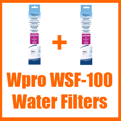 Wpro Compatible WSF-100 Water Filters (x2) Fits Samsung Enlarged Preview
