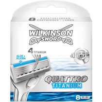 16 Wilkinson Sword Quattro Titanium Razor Blades 2x8 pk Enlarged Preview