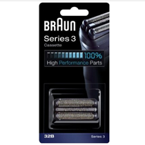 BRAUN SERIES 3 320 330 340 380 390 Black Shaver FOIL CUTTER HEAD CASSETTE 32B Enlarged Preview