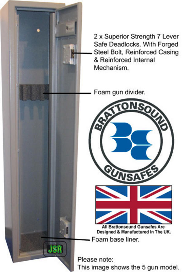 Brattonsound Sentinel Rd5 4 5 Rifle Exta Deep Gunsafe