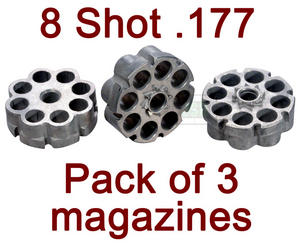Walther Umarex CP88 CP99 CP Sport Spare MAGAZINES 3 Pack Preview