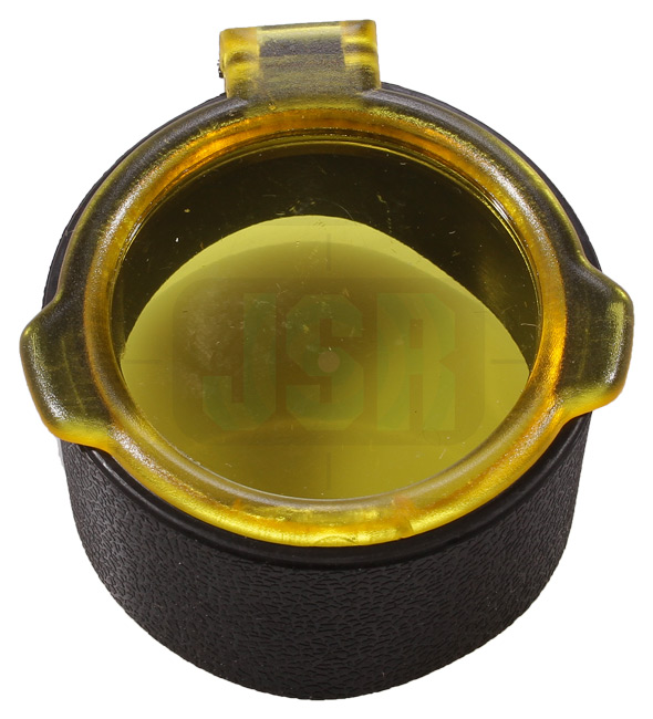 FLIP UP LENS COVER CAP Scope Telescopic Sight Yellow Clear See Through Filter