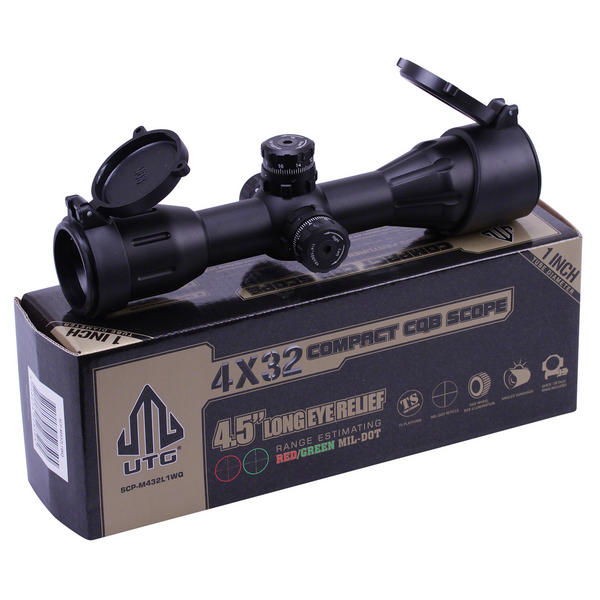 View Item Leapers UTG 4x32 CQB Compact Air Rifle Scope Illuminated Long Eye Relief