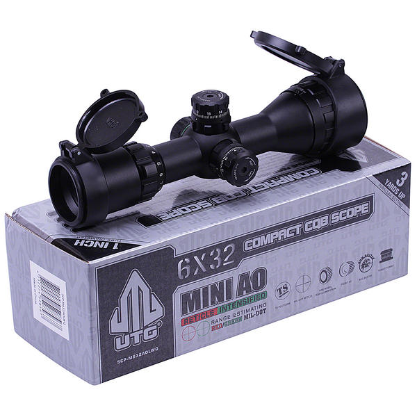 View Item Leapers UTG 6x32 CQB Compact Air Rifle Scope Illuminated Hunting Sight