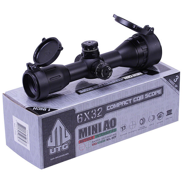 View Item Leapers UTG 6x32 CQB Compact Air Rifle Scope Hunting Sight - FAULTY ILLUMINATION