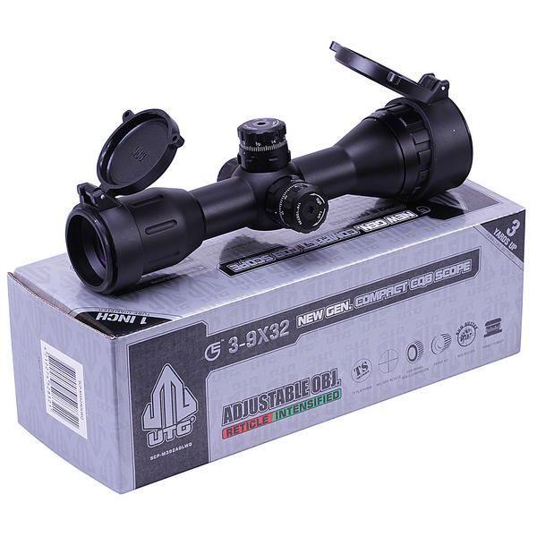 View Item Leapers UTG 3-9x32 CQB Compact Air Rifle Scope Illuminated Hunting Sight