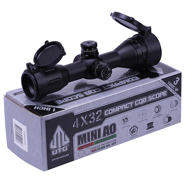 View Item Leapers UTG 4x32 CQB Compact Air Rifle Scope Illuminated Hunting Sight