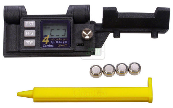 View Item Combro CB-625 CB625 Air Rifle Chronograph Chronoscope Mk IV Model - DeLuxe Kit