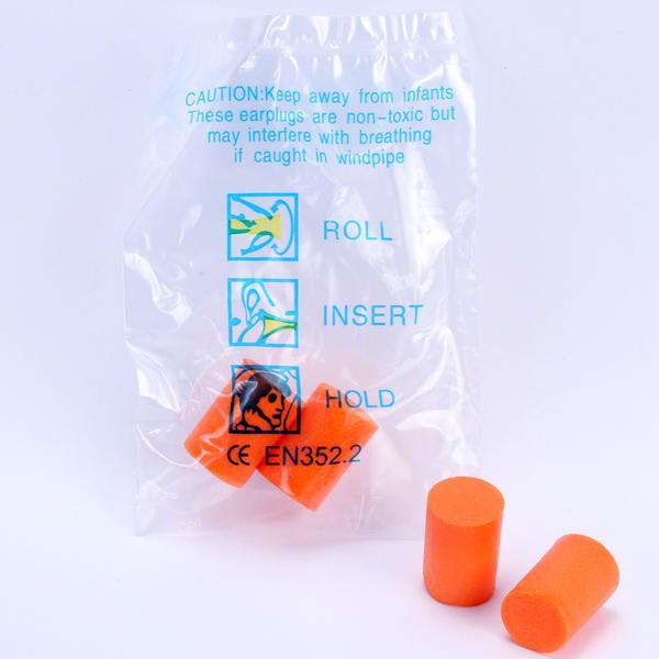 View Item 20 x SMK Classic Foam Ear Plugs Orange (10 Pairs) CE EN352.2 Hearing Protection