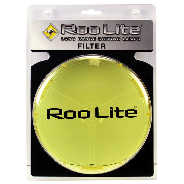 View Item Roo Lite Spot Light Driving Lamp AMBER Filter 145mm Lens Protection Cover RLCA145