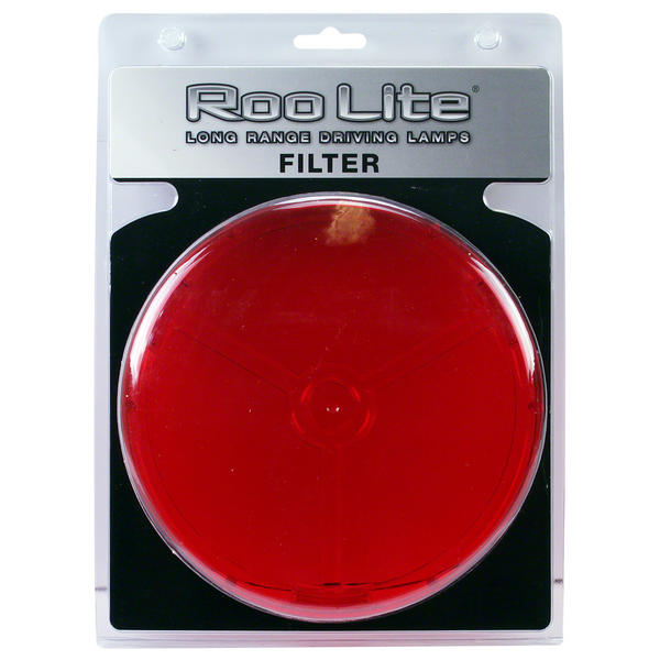 View Item Roo Lite Spot Light Driving Lamp RED Filter 180mm Lens Protection Cover RLCR180